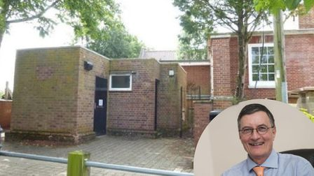 The toilet block in Loddon went for £36,000 at auction with William H Brown auctioneer Simon Arnes,