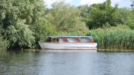 Surlingham Broad, where a boat has been moored for arounda year. Picture: Submitted