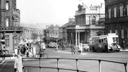 Looking down Prince of Wales Road from Agricultural Hall Plain. Dated 22 March 1960. Photograph: Arc