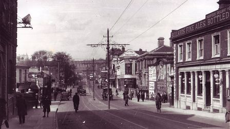 Prince of Wales road pictured just before the war. Photo: Archant Library