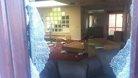 Shaftesbury Court Care Home has been the target of vandals. Photo: James Carr.
