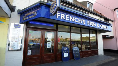 French's Fish & Chip Shop in Wells. Picture: Matthew Usher.