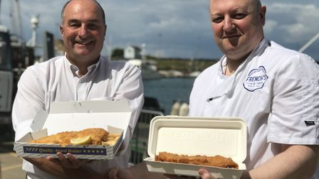 Phil Platten, Director of Platten's and Jason Crook French's Fish and Chips, Shop Manager. Picture: