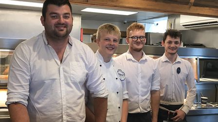 Team members of French's fish & chips. Picture: Victoria Pertusa