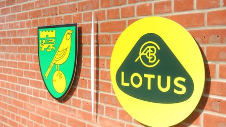 The new-look Lotus logo at the Colney training centre. Pic: Archant