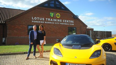 Simon Clare, executive director of global marketing at Lotus at the newly named Norwich City Footbal