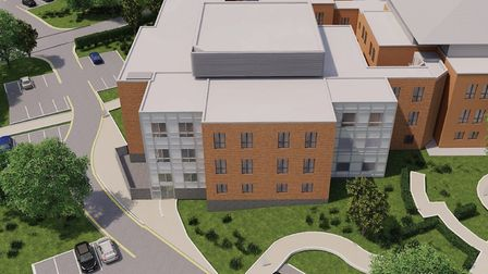 Artist's impression of the new ward block at the Norfolk and Norwich University Hospital. Photo: NNU