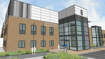 Artist's impression of what the new IRU at the NNUH will look like once completed. Picture: Norfolk