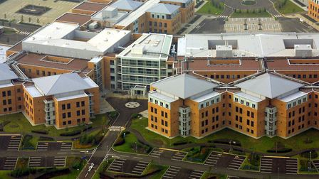 Norfolk & Norwich Hospital nearing completion at Colney. 13th October 2001Photo: Courtesy Mike Page