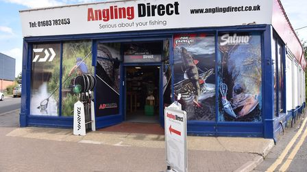 The Environment Agency beams live temperature data to the Wroxham branch of Angling Direct to show t
