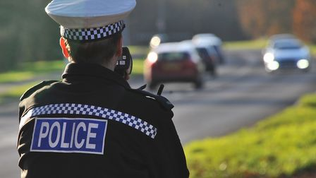 File picture of police carrying out speed checks in Norfolk. Picture by SIMON FINLAY.