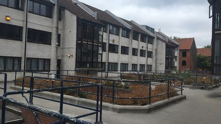 Mary Chapman Court, which is being demolished to make way for an expansion of Norwich University of