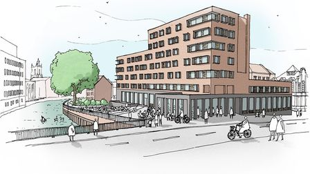 How Mary Chapman Court could look once it has been redeveloped for Norwich University of the Arts. P