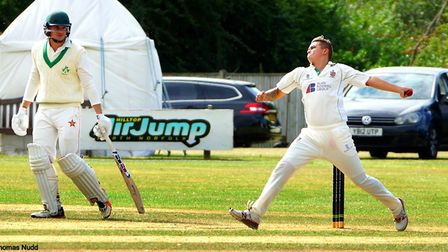 Young Horsford paceman Thomas Nudd, who recently made his Norfolk debut, prepares to deliver Picture