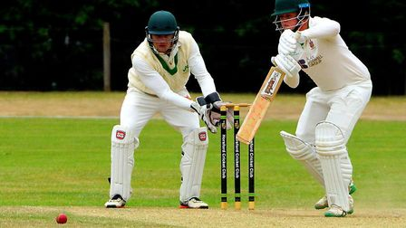 Horsford batsman Will Rogers strokes one into the covers Picture: TIM FERLEY