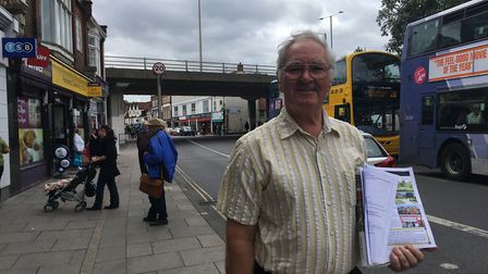Eric Kirk, chairmn of the Magdalen street area and Anglia Square traders' association and community