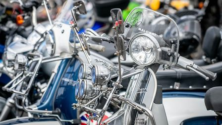 Scenes from Mods & Rockers 2019l, held on the Tuesday Market Place in King's Lynn. PHOTO: Matthew Us