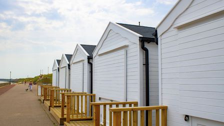 The beach huts in Gorleston went up for rent last week. Picture: Great Yarmouth Borough Council