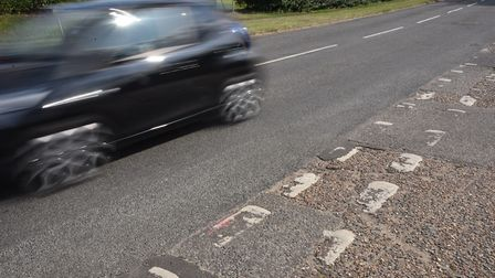 London Road in Attleborough has had the most complaints for potholes and damaged surface than any ot