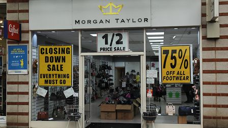 Morgan Taylor in King's Lynn, which is closing down Picture: Chris Bishop