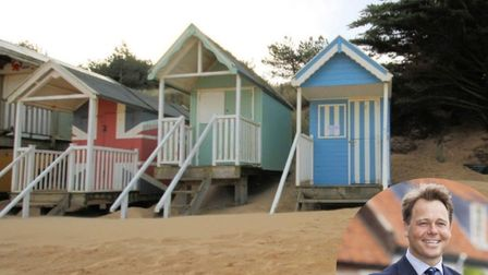 The beach hut in Wells-on-Sea which sold for £59,000 and Max Sowerby, inset. Pic: Sowerbys/Archant