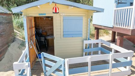 This beach hut is for sale for £60,000 in Wells-on-Sea. Pic: Belton Duffey