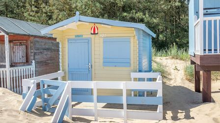 This beach hut is for sale for £60,000 in Wells-on-Sea with Belton Duffey. Pic: Belton Duffey