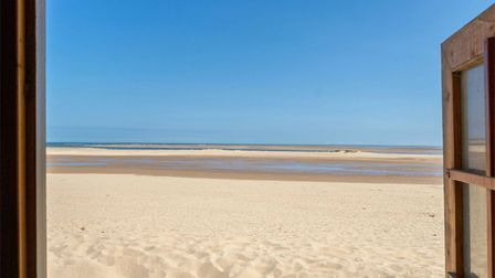 What price do you put on this? The view from the beach hut for sale in Wells-on-Sea for £60,000. Pic