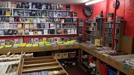 Inside The Movie Shop which sells rare and niche films, books, magazines and trivia. Picture: Ruth L