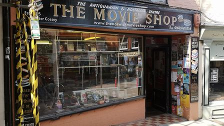 The Movie Shop on St Gregory's Alley has been open for 34 years. Picture: Ruth Lawes