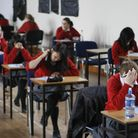 Pupils sitting an exam. The NPSCC says its Childline service is taking more calls from teenagers con