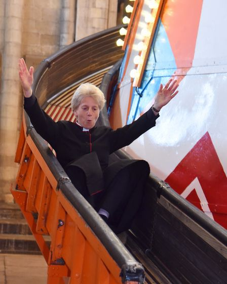 The Helter Skelter installed in Norwich Cathedral as part of their 'Seeing It Differently' projectPi