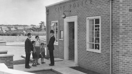 The Tuckswood police section box in August 1953. Pic: Archant Library.