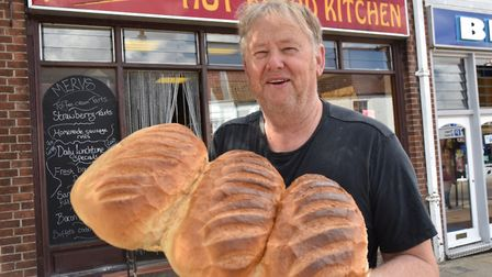Mervyn Ayers of Merv's Hot Bread Kíthén in Wymondham is hoping to sell up and retire now he's turned
