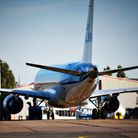 A KLM plane at Norwich Airport. Iain Dale says we anyone in East Anglia looking to travel abroad sho