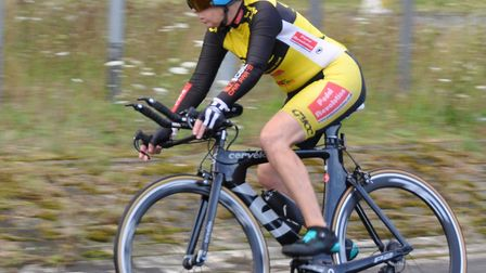 Jenny Anderson (Great Yarmouth CC) on her way to the womens win in the VC Baracchi 50. Picture: John