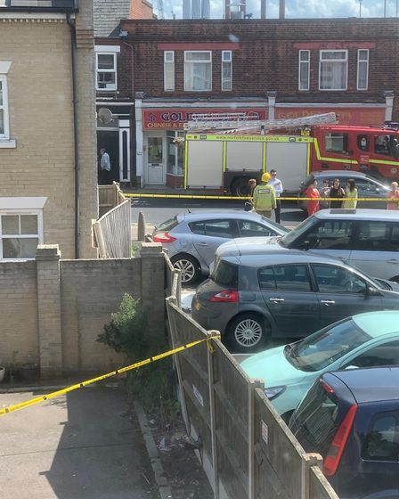 Police, fire and ambulance crews were called to the crash at just after 11.30am. Picture: Steve Smit