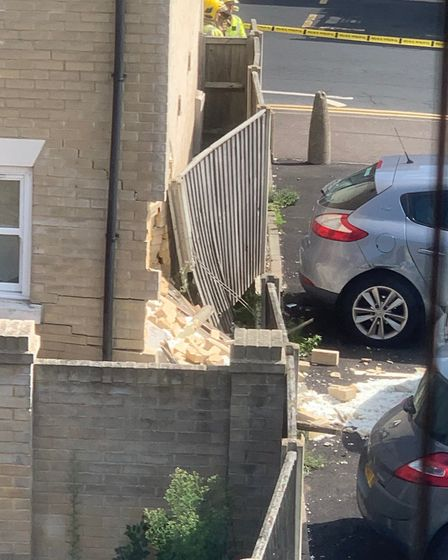 Residents said the Range Rover had been put into the wrong gear. Picture: Steve Smith