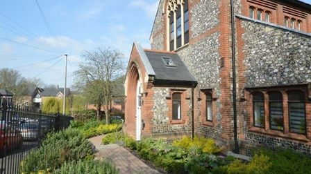 A flat in a converted church hall is on the market for £145,000. Photo: Gilson Bailey