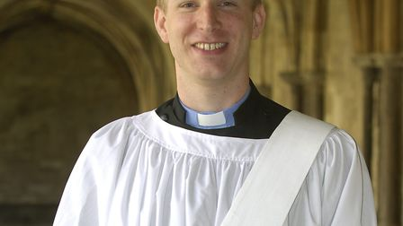 Picture of Bishop of Norwich Rt Rev Graham James ordaining 6 people to the Deaconate at Norwich Cath