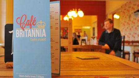 Cafe Britannia in the former prison officers mess, that offered work experience for inmates from Nor