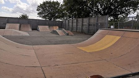 Connaught Skate Park in Attleborough has been closed since the start of the summer holidays. Photo: