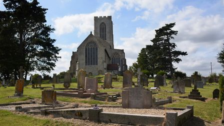 All Saints Church on the hill at Swanton Morley. Picture: DENISE BRADLEY