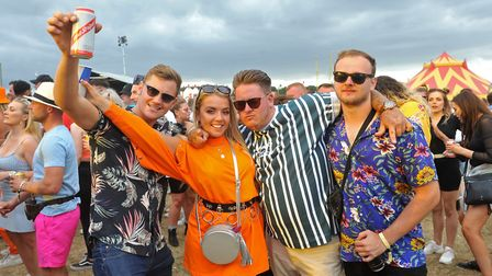 Crowds enjoying the Saturday of Sundown Festival 2019 at the Royal Norfolk Showground. Picture: Dani