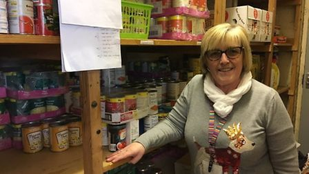 Sharon Johnson, care and support advisor at North Denes Primary School in Great Yarmouth helps to pa