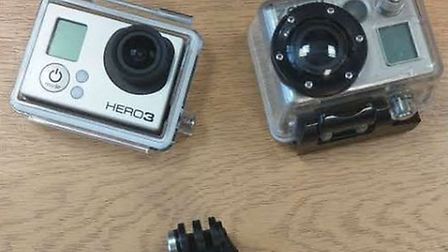 Some of the items, including GoPro video cameras, which were found together on September 1 near to t