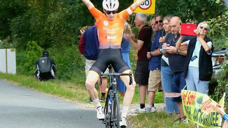Essex rider James Jenkins takes the win at the Jef Schils Memorial Race. Picture: Fergus Muir