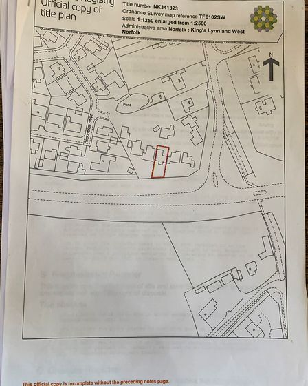 Land registry shows the land is privately owned by the applicant. Picture: Sarah Hussain