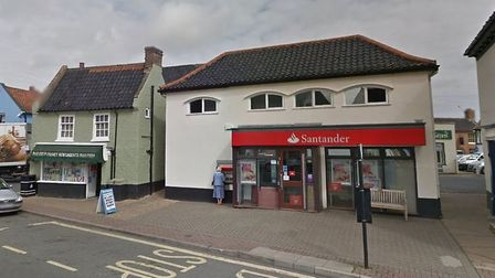 The Santander branch in Market Place, Holt. Picture: GOOGLE STREETVIEW