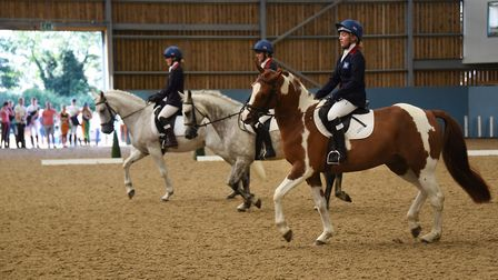 The Great Britain team, from right to left, Emily Latham-Taylor, Libby Seed, and Sophia Ramsoy, taki